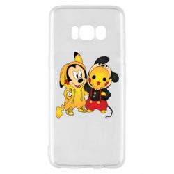 Чехол для Samsung S8 Mickey and Pikachu