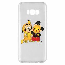 Чехол для Samsung S8+ Mickey and Pikachu