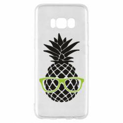 Чехол для Samsung S8 Pineapple with glasses