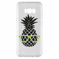 Чехол для Samsung S8+ Pineapple with glasses
