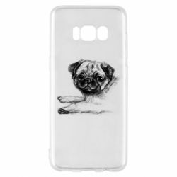 Чохол для Samsung S8 Pug drawing