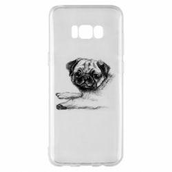 Чохол для Samsung S8+ Pug drawing