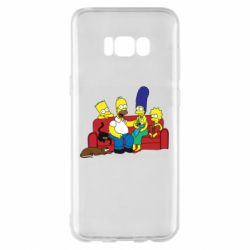 Чехол для Samsung S8+ Simpsons At Home