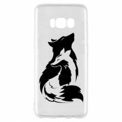 Чехол для Samsung S8 Wolf And Fox