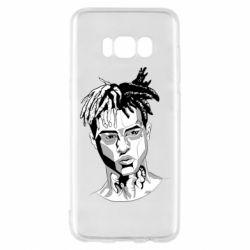 Чехол для Samsung S8 XXXTentacion Monochrome Art
