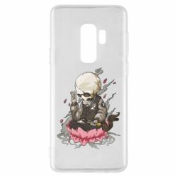 Чехол для Samsung S9+ A skeleton sitting on a lotus