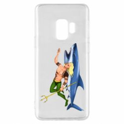 Чехол для Samsung S9 Aquaman with a shark