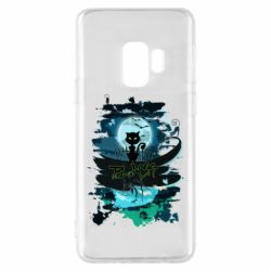 Чехол для Samsung S9 Black cat art