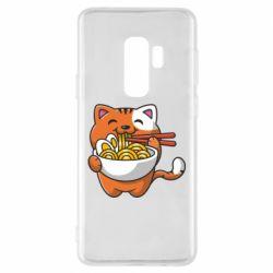 Чохол для Samsung S9+ Cat and Ramen