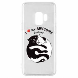 Чехол для Samsung S9 Cats and love