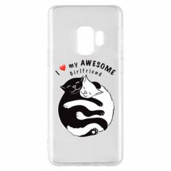 Чехол для Samsung S9 Cats with red heart