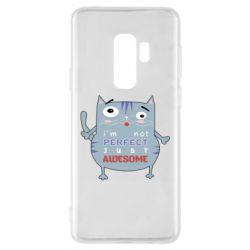 Чехол для Samsung S9+ Cute cat and text