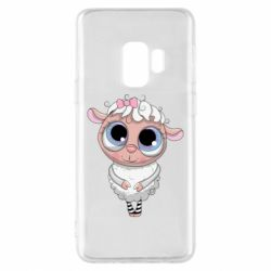 Чехол для Samsung S9 Cute lamb with big eyes