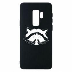 Чохол для Samsung S9+ Cute raccoon face