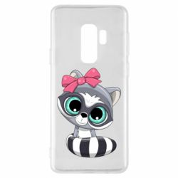 Чехол для Samsung S9+ Cute raccoon