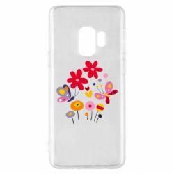 Чехол для Samsung S9 Flowers and Butterflies
