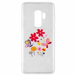 Чехол для Samsung S9+ Flowers and Butterflies