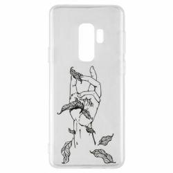 Чохол для Samsung S9+ Hand with leafs