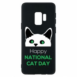 Чехол для Samsung S9 Happy National Cat Day