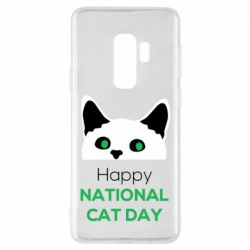 Чехол для Samsung S9+ Happy National Cat Day