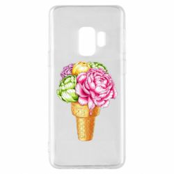 Чохол для Samsung S9 Ice cream flowers