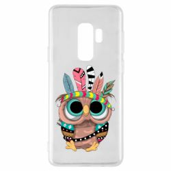 Чохол для Samsung S9+ Little owl with feathers