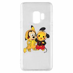 Чехол для Samsung S9 Mickey and Pikachu