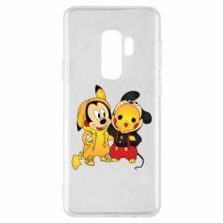 Чехол для Samsung S9+ Mickey and Pikachu