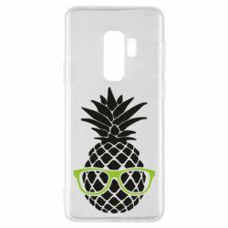Чехол для Samsung S9+ Pineapple with glasses