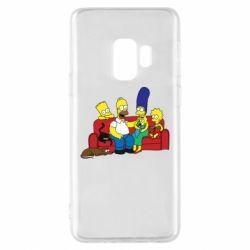 Чехол для Samsung S9 Simpsons At Home