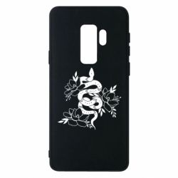 Чохол для Samsung S9+ Snake with flowers