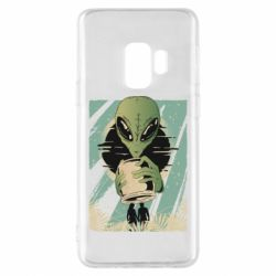 Чохол для Samsung S9 Alien with a can