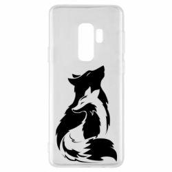 Чехол для Samsung S9+ Wolf And Fox