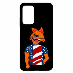 Чехол для Xiaomi Mi 10T/10T Pro Cat in American Flag T-shirt