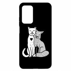 Чехол для Xiaomi Mi 10T/10T Pro Fox and cat heart