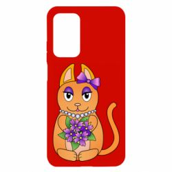 Чехол для Xiaomi Mi 10T/10T Pro Girl cat with flowers