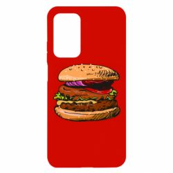 Чехол для Xiaomi Mi 10T/10T Pro Hamburger hand drawn vector