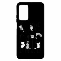 Чехол для Xiaomi Mi 10T/10T Pro I Love all the cats in the world