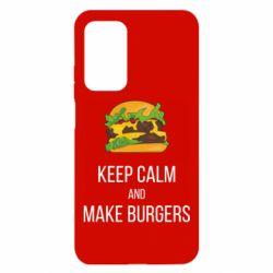 Чехол для Xiaomi Mi 10T/10T Pro Keep calm and make burger