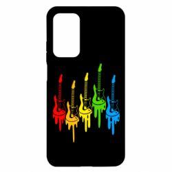 Чехол для Xiaomi Mi 10T/10T Pro Разноцветные гитары