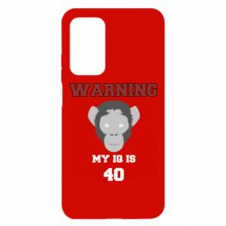 Чехол для Xiaomi Mi 10T/10T Pro Warning my iq is 40