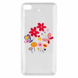 Чехол для Xiaomi Mi 5s Flowers and Butterflies
