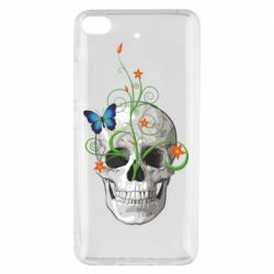 Чехол для Xiaomi Mi 5s Skull and green flower