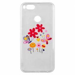 Чехол для Xiaomi Mi A1 Flowers and Butterflies