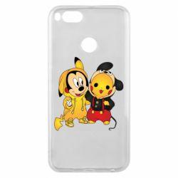 Чехол для Xiaomi Mi A1 Mickey and Pikachu