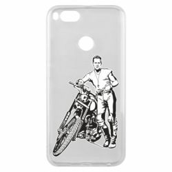 Чехол для Xiaomi Mi A1 Mickey Rourke and the motorcycle