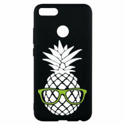 Чехол для Xiaomi Mi A1 Pineapple with glasses