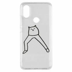 Чохол для Xiaomi Mi A2 Cat in pants