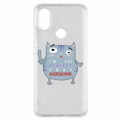 Чехол для Xiaomi Mi A2 Cute cat and text