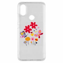 Чехол для Xiaomi Mi A2 Flowers and Butterflies